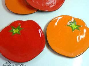美丽说推荐 Harry&David 番茄 手绘 外贸陶瓷盘/小菜盘/点心盘,盘碟,