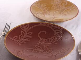 家居用品 外贸出口陶瓷 美国名品 科莫 平盘 果盘 盘子 特价,盘碟,