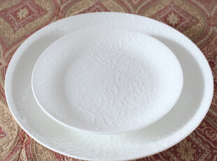 西餐盘子创意餐具骨瓷陶瓷盘浮雕牛排排西餐餐盘 水果盘外贸原单,盘碟,