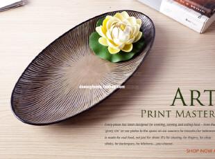 鱼盘 陶瓷 超大 寿司盘 外贸 日本鱼盘 出口品质 新品发布特惠,盘碟,