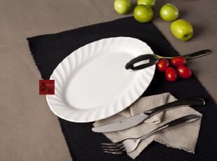 鱼盘 陶瓷 外贸 西餐餐盘 饺子盘 新加坡LZ 创意盘子 白菊 白瓷盘,盘碟,