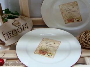 美丽说推荐 TERRACOTTA 外贸陶瓷盘zakka陶瓷西餐盘/蛋糕盘/点心,盘碟,