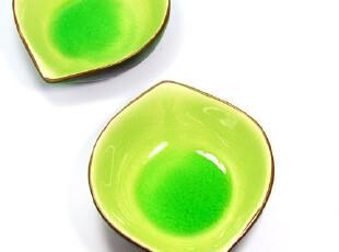 出口外贸原单餐具 冰裂釉陶瓷 骨碟|味碟子 小吃酱料碗 翠绿 桃心,盘碟,