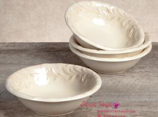 GG法式浪漫希腊出口丹麦搅拌盘面碗沙拉美式浮雕作旧复古花边汤盘,盘碟,