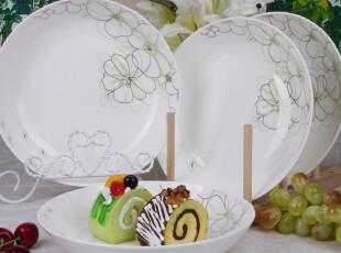西餐餐盘子骨瓷陶瓷盘子水果盘菜盘创意餐具西餐餐盘牛排盘子外贸,盘碟,