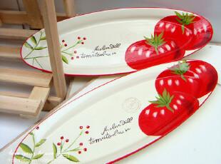 美丽说推荐 trimar 外贸陶瓷盘手绘创意 梭形鱼盘/水果盘/西餐盘,盘碟,