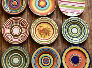 江南生活|手绘陶瓷|9款盘子|西餐盘|可做装饰盘|挂盘C/D瑕疵,盘碟,