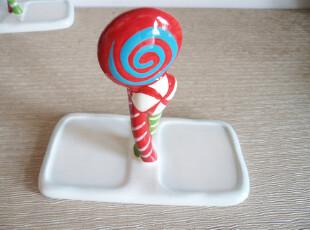外贸陶瓷 超可爱 成双棒棒糖 甜蜜 创意点心盘托盘,盘碟,