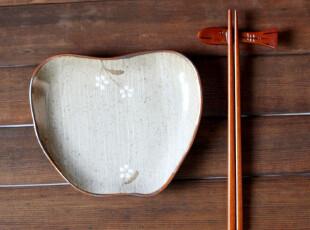 日式杂货 苹果雨点水果点心盘,盘碟,