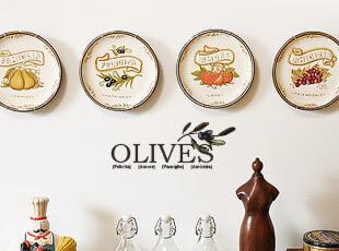 橄榄系列  陶瓷装饰盘 平盘 盘子 挂盘 送盘架,盘碟,