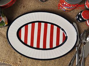星旗 陶瓷餐具  椭圆盘子 鱼盘 菜盘,盘碟,