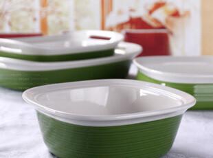 欧洲名品 陶瓷 詹姆士的家  汤盘 烤盘 微波炉  绿  简洁风,盘碟,