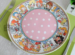 blond瑕疵|盘子|陶瓷餐具|12英寸大盘|西餐盘|装饰盘|原单尾货,盘碟,
