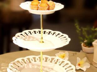 出口原单正品罗马宫廷陶瓷 148元三层蛋糕盘 点心盘 西餐盘,盘碟,