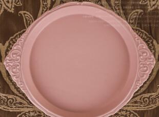 外贸出口 精品陶瓷 安娜 可爱魔镜西式宫廷 西餐餐具 大平盘 汤盘,盘碟,