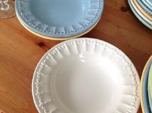 外贸出口余单陶瓷餐具 巴洛克风格 做旧浮雕系列 汤盘,盘碟,