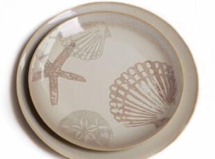 绘生活 陶瓷盘子餐具 水果盘 沙拉盘 点心盘 欢乐海洋1270X,盘碟,