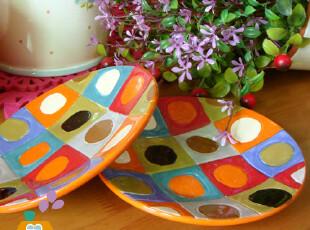 盘子 陶瓷 油画印象派 色彩食具陶瓷盘/点心盘/蛋糕盘,盘碟,