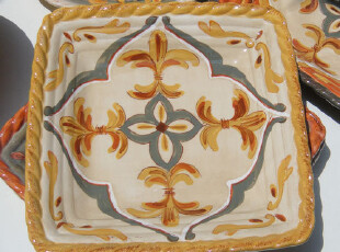 Artiimino美国原单 Tuscon的田野系列 陶瓷 方盘 餐盘  黄,盘碟,