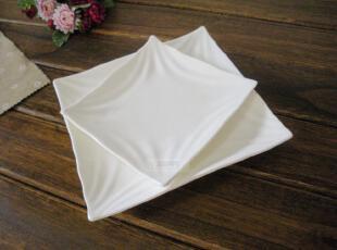 盘子 创意盘 陶瓷 餐具 欧式纯白 四方盘 西餐盘 菜盘 酒店用瓷,盘碟,