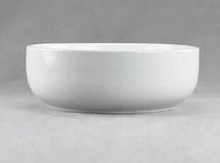 """出口法国 欧洲西餐具 镁质陶瓷 圆深盘子 大汤碗 泡面碟 萤白7.3"""",盘碟,"""