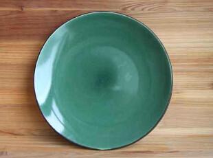 Studio外贸出口原单外黑内绿陶瓷西餐盘菜盘牛排盘子,盘碟,