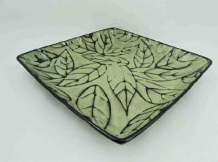 外贸原单陶瓷汤盘子-西餐牛排盘-水果点心盘-手绘彩釉餐具,盘碟,