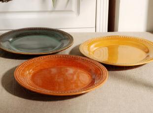 【Kingda家居铺子】外贸出口餐具 西餐盘子 宫廷 餐盘 圆盘 3色选,盘碟,