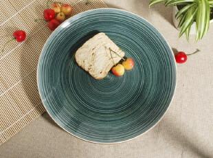 外贸陶瓷餐具 出口瓷器 欧洲 西式大盘 旋纹 餐盘 圆盘 牛排盘,盘碟,