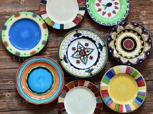 江南生活|手绘陶瓷|盘子|西餐盘可做装饰盘|挂盘 经典风格,盘碟,