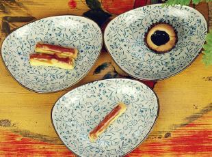 外贸 日式 和风 陶瓷 青花 小碟 小盘 调味碟 酱油碟 零食 餐具,盘碟,