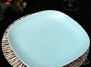 世界名品 陶瓷餐具  国外原单 圆角绿色方盘 餐具 盘子,盘碟,