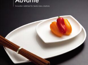 外贸陶瓷餐具 西式骨瓷盘Luzerne 异形长方盘/西餐盘/双尖叶形盘,盘碟,