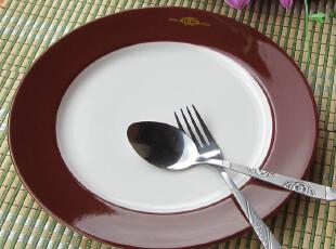 出口外贸原单陶瓷餐具 新骨瓷 创意西餐盘 牛排盘 沙拉盘,盘碟,