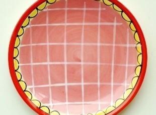荷兰国宝BLONDAMSTERDAM手绘陶瓷餐具/快乐太太装饰盘/点心蛋糕盘,盘碟,