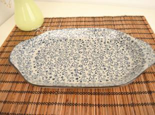 和风日式料理餐具大鱼盘菜盘陶瓷盘子出口外贸原单一家三口餐具,盘碟,