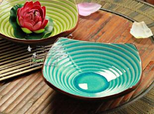 景德镇 陶瓷餐具盘 螺旋深菜盘(四个款式) 汤菜盘子,盘碟,