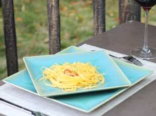 绘生活 陶瓷盘子餐具 菜盘 鱼盘 9寸盘 11寸方盘 爱琴海之0139X,盘碟,