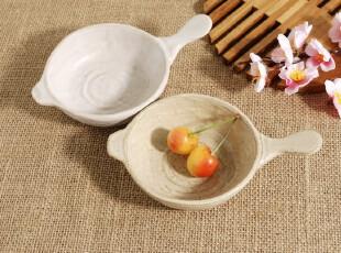 特惠 日本和风 日式餐具 粗陶 手工单柄小碟子 调味碟 醋碟料理碟,盘碟,
