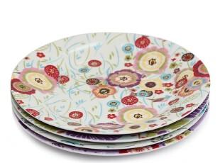 绘生活 陶瓷盘子餐具 点心盘 沙拉盘 9寸圆盘 蒲公英1326X,盘碟,