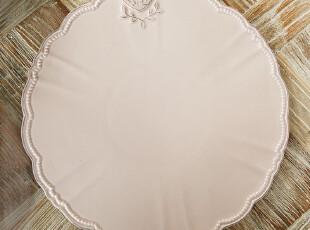 北欧表情/美克美家法式乡村浮雕高温陶瓷餐具/爱心蛋糕平盘托盘,盘碟,