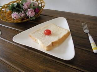 外贸出口原单 盘子 陶瓷餐具 三角盘 欧式面包盘 纯白骨瓷 西式盘,盘碟,