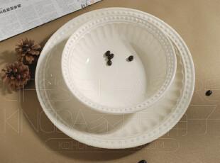 Kingda家居铺子 欧洲名品西式宫廷风 陶瓷餐具 圆盘 汤碗 面碗,盘碟,