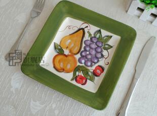 微疵8英寸|方盘子|西餐牛排盘|装饰盘|外贸陶瓷餐具|出口原单尾货,盘碟,