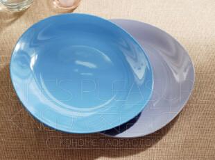 Kingda家居铺子 外贸陶瓷餐具 出口瓷器 天蓝 西式餐盘 菜盘 圆盘,盘碟,