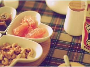 日本原单竹木陶瓷心型套碟 水果碟 咸菜碟 冷菜盘 糖果盘,盘碟,
