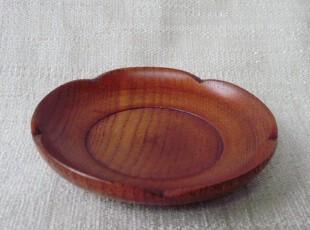 外贸出口日本实木花边小碟子 木盘子 果碟 杯垫 杯碟 碟子日式,盘碟,