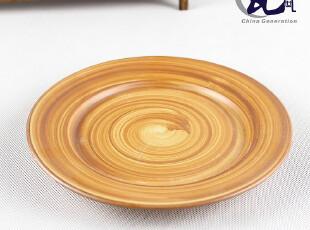 2012新款陶瓷餐具 厨房礼品 8寸特色中式水果盘平盘 潮州色釉散装,盘碟,