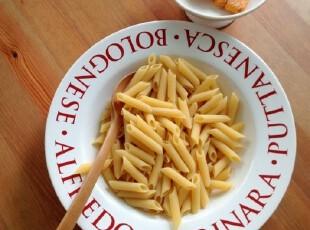 FOOD 外贸出口陶瓷餐具 简约英文汤盘子 (瑕疵明显),盘碟,