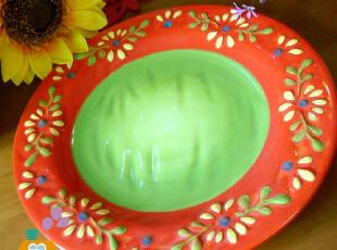 盘子 陶瓷 手绘浮雕华丽陶瓷盘/鱼盘/蛋糕盘/西餐盘,盘碟,
